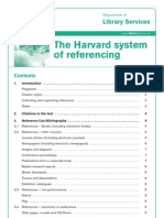 The Harvard System of Referencing