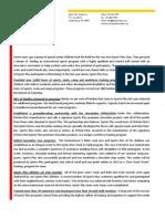 L2I Sports Plus - 2012 Report