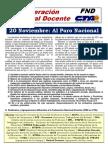 Federacion Docente CTA Paro 20 Nov 2011