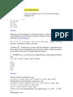 Exercícios Resolvidos de Trigonometria