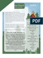 November & December Newsletter 2012