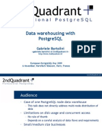 20091106 Bartolini Datawarehousing With Postgresql