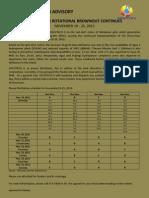 Rotational Brownout Nov 19-25