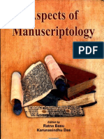 Aspects of Manuscriptology - Edited by Ratna Basu and Karunasindhu Das