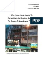 Essay- Why HK Needs to Rehabilitate to Become Sustainable (With Illustrations)