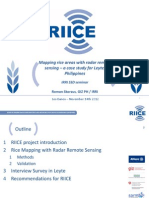 Mapping rice areas with radar remote sensing – a case study for Leyte, Philippines""