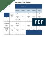 ASVAC 2013 Calendar
