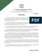 JEE Main 2013 Press Release 2012
