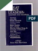 54883371 Great Black Leaders Ancient and Dr Ivan Van Sertima1 PDF