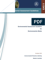 EPA Environmental Assessment Guideline for Environmental Offsets (Draft)