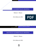 Matrices Elementales Inversa