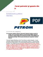 Cum s-au furat petrolul şi gazele din România.  Partea I