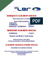 Cartel Esqui Camp 2013