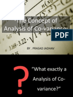 The Concept of Analysis of Co-Variance