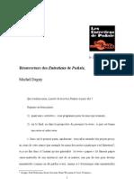 """""""Réouverture des Entretiens de Po&sie"""" par Michel Deguy"""