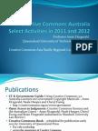 Creative Commons Australia 2012 Report