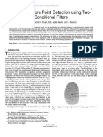Fingerprint Core Point Detection using Two- Conditional Filters