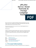 19_B_aPLaNet Survey_ Social NetworksForeign Language Teachers