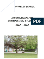 Exam Booklet 2012-13