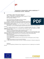 Hunedoara County - Balneal Treatment Packages and Tourism Programs