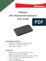 Mini Keyboard Bluetooth 5502 Ug