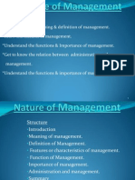 Nature of Management 2