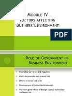 Factors Affecting Business Environment