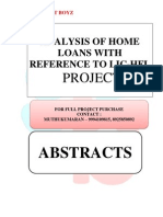 ABSTRACTS - ANALYSIS OF HOME LOANS WITH REFERENCE TO LIC-HFL