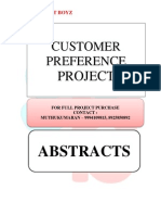 ABSTRACTS - CUSTOMER PREFERENCE