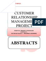 ABSTRACTS - CUSTOMER RELATIONSHIP MANAGEMENT