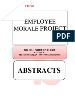 ABSTRACTS - EMPLOYEE MORALE