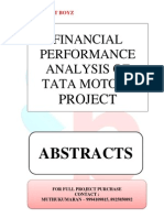 ABSTRACTS - FINANCIAL PERFORMANCE ANALYSIS OF TATA MOTORS.
