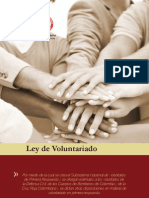 Cartilla Ley de Voluntariado110
