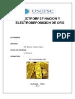 Electrorrefinacion y Electrodeposicion Del Oro2