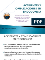 Accidentes y Complicaciones en Endodoncia