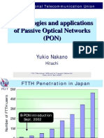 Technologies and Applications of Passive Optical Networks (PON