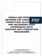 CORRUPTION CONTROL, CURBING BLACK MONEY