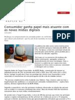 Consumidor ganha papel mais atuante com as novas mídias digitais_Ibope 2012
