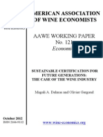 SUSTAINABLE CERTIFICATION FOR FUTURE GENERATIONS: THE CASE OF THE WINE INDUSTRY