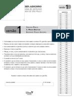 Caderno de Questões da Prova Objetiva (todas as versões) - TJ-SP - escrevente