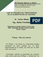 Uso Insumos No Tradicionales Huacho 2003