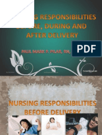 Nursing Responsibilities Before, During and After Delivery
