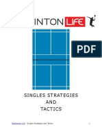 Badminton - Singles Strategies and Tactics