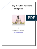 History of public Relations in Nigeria
