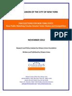 CU Report FairElectionsforNY 11-19-2012