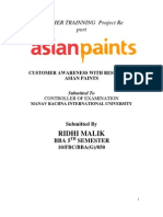 28732434 Customer Awareness With Respect to Asian Paints (Autosaved)