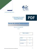 La revue de presse hebdomadaire de l'Observatoire de la corruption de Transparency Maroc n°237 du 10 au 15 novembre 2012