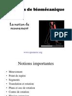 Biomecanique Cours1 Notions Mouvement