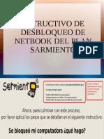 INSTRUCTIVO DESBLOQUEO NETBOOK