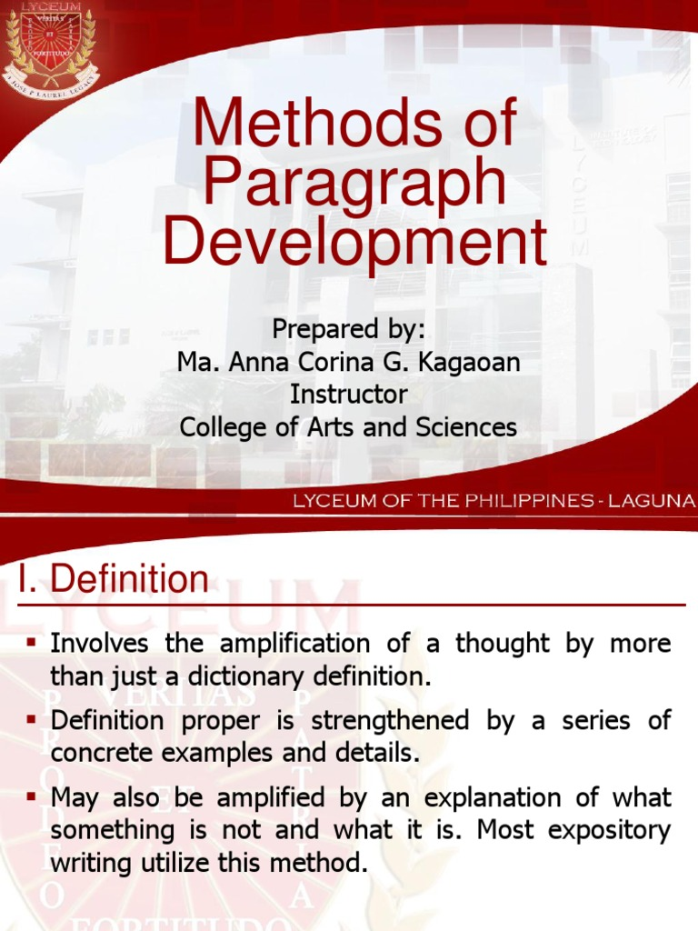 Methods Of Paragraph Development By Analogy Examples Choice Image